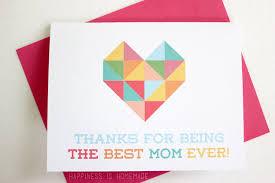 geometric heart printable mother u0027s u0026 father u0027s day cards