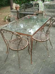 patio ideas vintage metal patio table vintage wrought iron metal