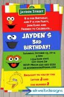 sesame street birthday invitation sesame street joint or twins