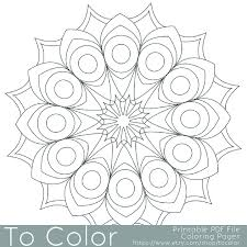 printable circular mandala easy coloring pages for adults big