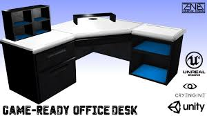modern office table 3d model modern office desk game ready cgtrader