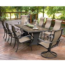 agio international panorama 9 pc patio dining set