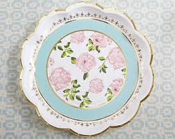 bridal shower plate paper plates etsy