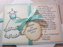 Wedding Poems For Invitation Cards Will You Be My Junior Bridesmaid Handmade Vintage By Ifiwerecards