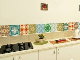 kitchen decals for backsplash tile decals set of 15 tile stickers geometric