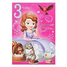 sofia the birthday hallmark disney princess sofia 3rd birthday card of