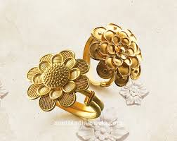 gold jewelry rings images 22k gold adjustable rings from tanishq south india jewels jpg