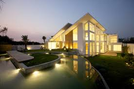 exterior home lighting design decorations stunning house with sloping roof feat led outdoor