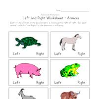 left right worksheets all kids network
