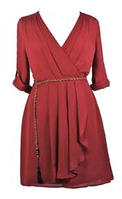 Red Cocktail Dress Plus Size Burgundy Red Plus Size Wrap Dress Cute Plus Size Dress Red Plus
