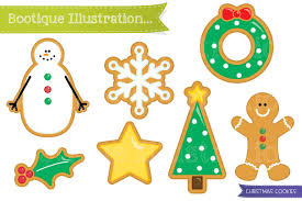 christmas cookies clipart graphics creative market