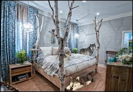 Wolf Curtains American Bedrooms Forest Decorating Ideas Wolf Bedroom Decorating