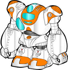 clipart robot color simply