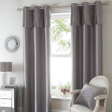 Dunelm Curtains Eyelet Silver Opulence Curtain Collection Dunelm Decoration