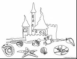 brilliant beach coloring pages with castle coloring page