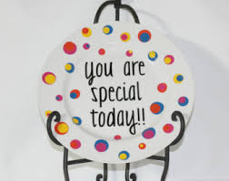 plate you are special keepsake plate etsy