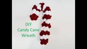 diy candy cane pom pom wreath christmas knitting crafts youtube