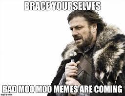 Moo Meme - brace yourselves x is coming meme imgflip