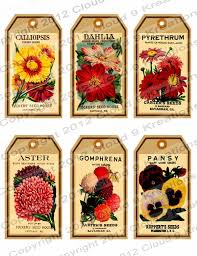 flower seed packets vintage flower seed packet gifthang tags