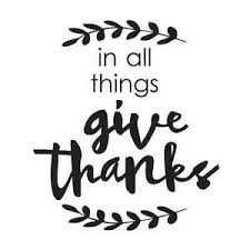 thanksgiving stencil in all things give thanks for signs canvas