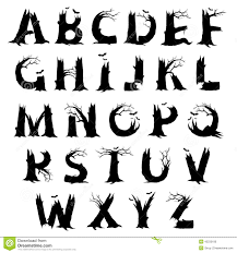 14 scary fonts a z images scary halloween alphabet letters