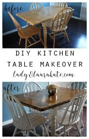 Kitchen Tables Best 25 Refinished Table Ideas On Pinterest Refurbished Kitchen