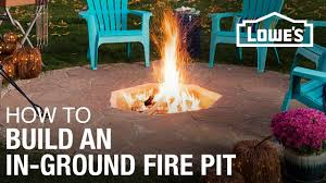 how to build an in ground fire pit youtube