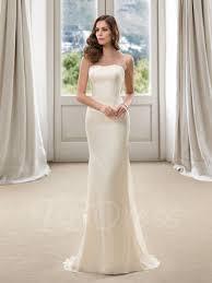 wedding dress sle sales strapless floor length sheath plus size color wedding dress