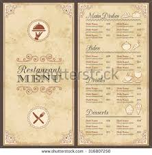 free blank menu template chef menu blank page stock images royalty free images vectors