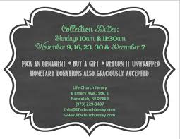church jersey unveils their adopt a family giving tree