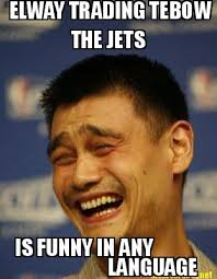 Tebow Meme - meme maker elway trading tebow the jets is funny in any language