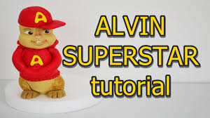 alvin and the chipmunks cake toppers alvin superstar cake topper fondant tutorial pasta di zucchero