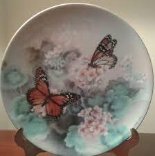 butterfly platter bradford exchange lena liu gossamer wings collector butterfly 8
