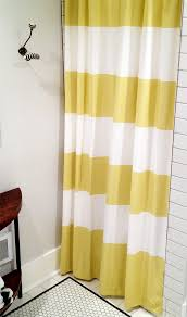 Shower Curtain Striped Gold And White Striped Shower Curtain Home Design Plan