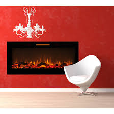 elite flame 50 inch fusion log built in smokeless wall mounted