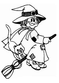coloring impressive coloring witch happy flying