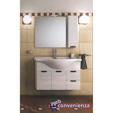 bagno mobile rigo mobile bagno sospeso con 2 ante 2 cassetti cm 105 bianco