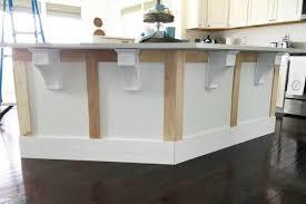 how to add a kitchen island kitchen island corbels new how to add custom trim to a kitchen