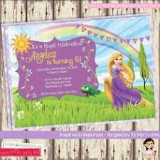 rapunzel birthday invitation tangled invitation by kayedigiprints