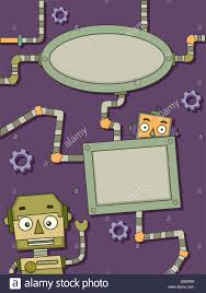 themed frames background illustration featuring robot themed frames stock photo