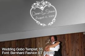 Wedding Gobo Templates Chicago Lighting Your Name In Lights