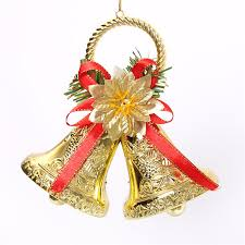 Metal Christmas Tree Decorations by Christmas Bowknot Double Bell Xmas Tree Ornament Pendant Door