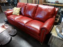 Denver Leather Sofa Leather Studded Sofa This Sofa Is Comfortable And Handsome The