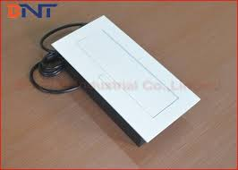square desk pop up sockets with 3 french power outlet galvanized panel