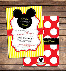 mickey mouse baby shower invitations 43 baby shower invitation exles