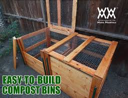 Free Woodworking Plans Build Easy by How To Make A Compost Bin Using Limited Tools