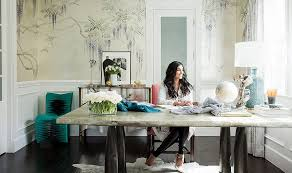 home office inside rachel roy s impeccably elegant home office