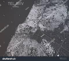 Satellite View Maps Map Tel Aviv Israel Satellite View Stock Illustration 308600576