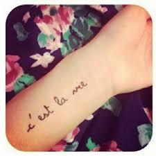 c u0027est la vie así es la vida tatuaje tattoo ink tatoos