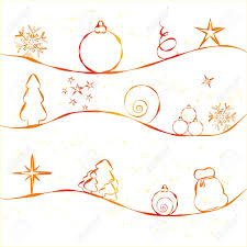 christmas card with simple christmas decorations on strry